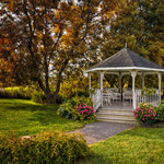 The Gazebo in our Gardens. A favorite venue for weddings