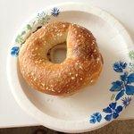salted bagel - yum!