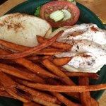 Chicken Sandwhich with Sweet Potatoe Fries