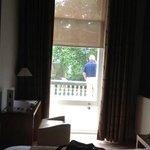 Random man (guest - not staff) appeared outside my open 1st floor window - felt very uncomfortab