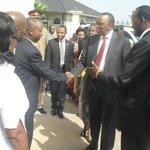President of Republic of Kenya, H.E. Uhuru Kenyatta during a visit on 1st July 2013