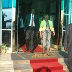 The President of Kenya H.E. Uhuru Kenyatta & 1st lady Mrs. Margaret Kenyatta on 1st July 2013