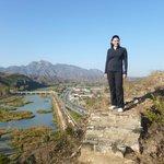 Overlooking Gubeikozhen North from the runis