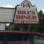 SIGN FOR BILL'S DINER in Norwich, NY