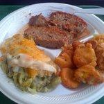 meatloaf, squash and broccoli casserole