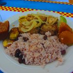 Fresh snapper with traditional sides