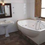 The gigantic bathtub in my suite