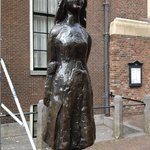 Statue of Anne Frank near Westerkerk