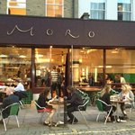 Moro, situated on the pedestrianised Exmouth Market