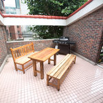 We have a western BBQ pit for the perfect outdoor experience in one of the busiest areas in the