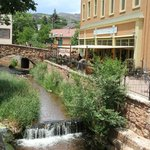 A stream-side cafe in Manitou