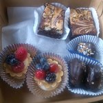 berry tarts,almond joy macaroons,brownies