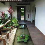 entrance to villa. love the idea of the koi pond but less so after a night of drinking.