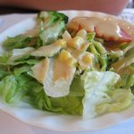 side salad with miso dressing