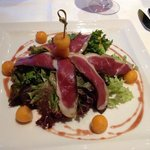Smoked duck breast salad (starter)