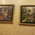 beautiful paintings on the walls
