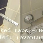 Unmarked taps.