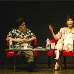 Writers Kapal Singh and Catherine Lim at one of the sessions in Asia On The Edge 2008