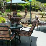 Garden dining early in the day (of all seats will be full)