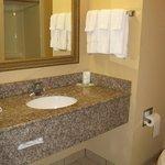Nice, clean bath -- Vidalia Comfort Suites