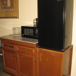 Convenient microwave and refrigerator -- Vidalia Comfort Suites