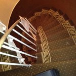 Be careful if the small spiral stairs as there is no lift