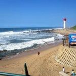 Strand, Leuchtturm, indischer Ozean