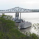 view of the river and the bridge, Bluff Park, Natchez, MS