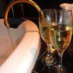 Spa + champagne!