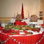Christmas food station for reception