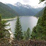 il lago dal sentiero x malga fraitina