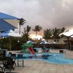 Area de piscina do hotel