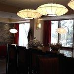 Gorgeous lobby eating area