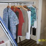 Clothes Rack w/iron & ironing board