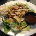 The staff was kind enough to modify the oriental chicken salad with grilled instead of fried chi