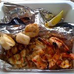 Grilled seafood combo