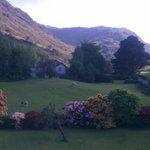 Beautiful view down Borrowdale across Gillercombe garden