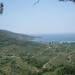 golden beach from panagia