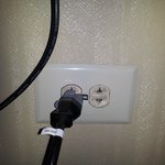 Wall outlets without ground plug.
