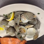 Steamed clams $5.00 every Wednesday night 5:00PM until supplies last