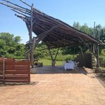 Unique Gazebo - Location of Wine and Cheese Tasting