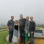 Our group having fun at Casper...rain didn't stop us!
