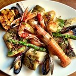 our famous hot seafood platter