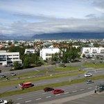 vista della città dal l'albergo.
