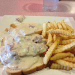 Chipped Beef and French Fries