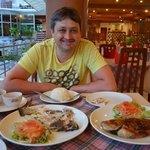 авторские блюда из свежей рыбы - сибас и окунь