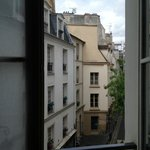 View from room 21 down Maitre Albert