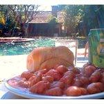 Comiendo Gnochi de La Mamma, recomendacion de la casa!