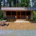 One of the 3 Adirondack camping platforms