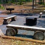 picnic/grill area at Adirondack camping platforms